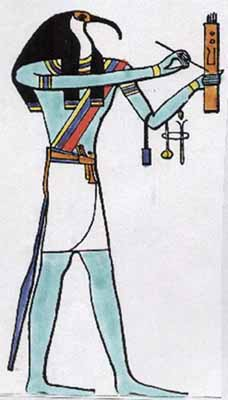 Thoth brings the gift of writing, but Thamus sees it as a curse