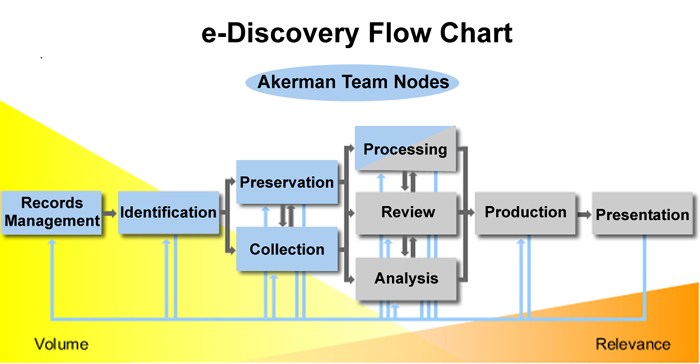 ediscovery flow chart showing where losey's law firm concentrates, wiring diagram