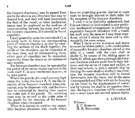 Lincoln Patent Pg. 2