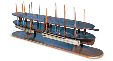 Lincoln Hand-Carved Wooden Model of Patent