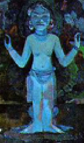 Gauguin idol detail from larger painting