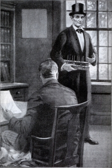 Lincoln Filing Invention at Patent Office (fictionalized depiction)