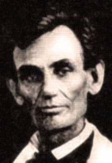 Close up of Lincoln's face in his early middle age