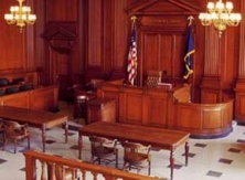 Judge Scheindlin's courtroom in Manhattan