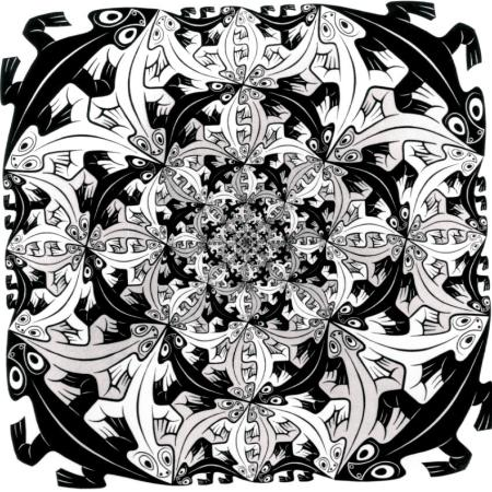 escher lizards mandala