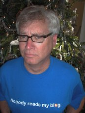 """Ralph Losey with this """"nobody read my blog"""" sad shirt"""