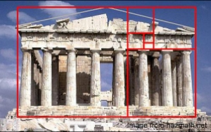 golden ratio is based in the Parthenon