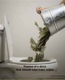 money down the toilet from dumb over review of ESI