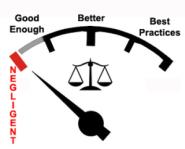 best practices justice gauge by Ralph Losey EDBP.com