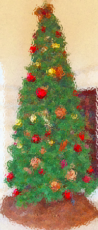 Christmas Tree photoshopped