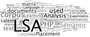 Latent Semantic Indexing LSA