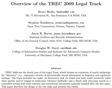TREC Overview
